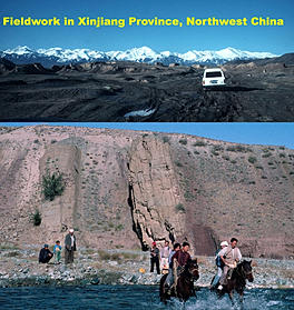 Fieldwork in Cinjiang Province, Northwest China