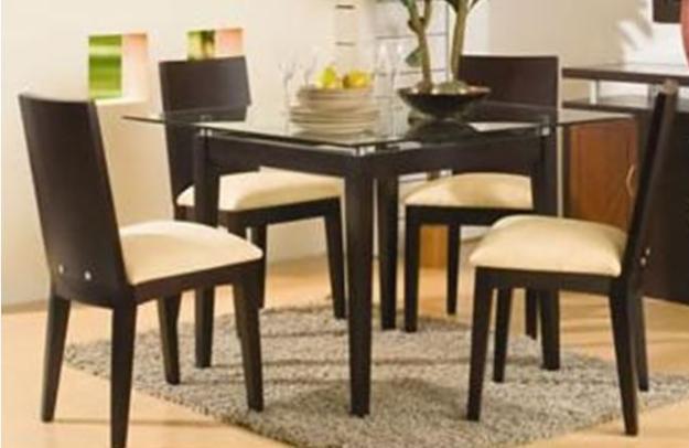Muebles en madera maciza Comedores altos modernos