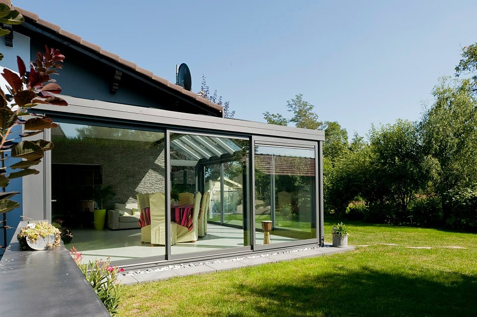 V randa cuisine terrasse for Prix veranda 20 m2 terrasse