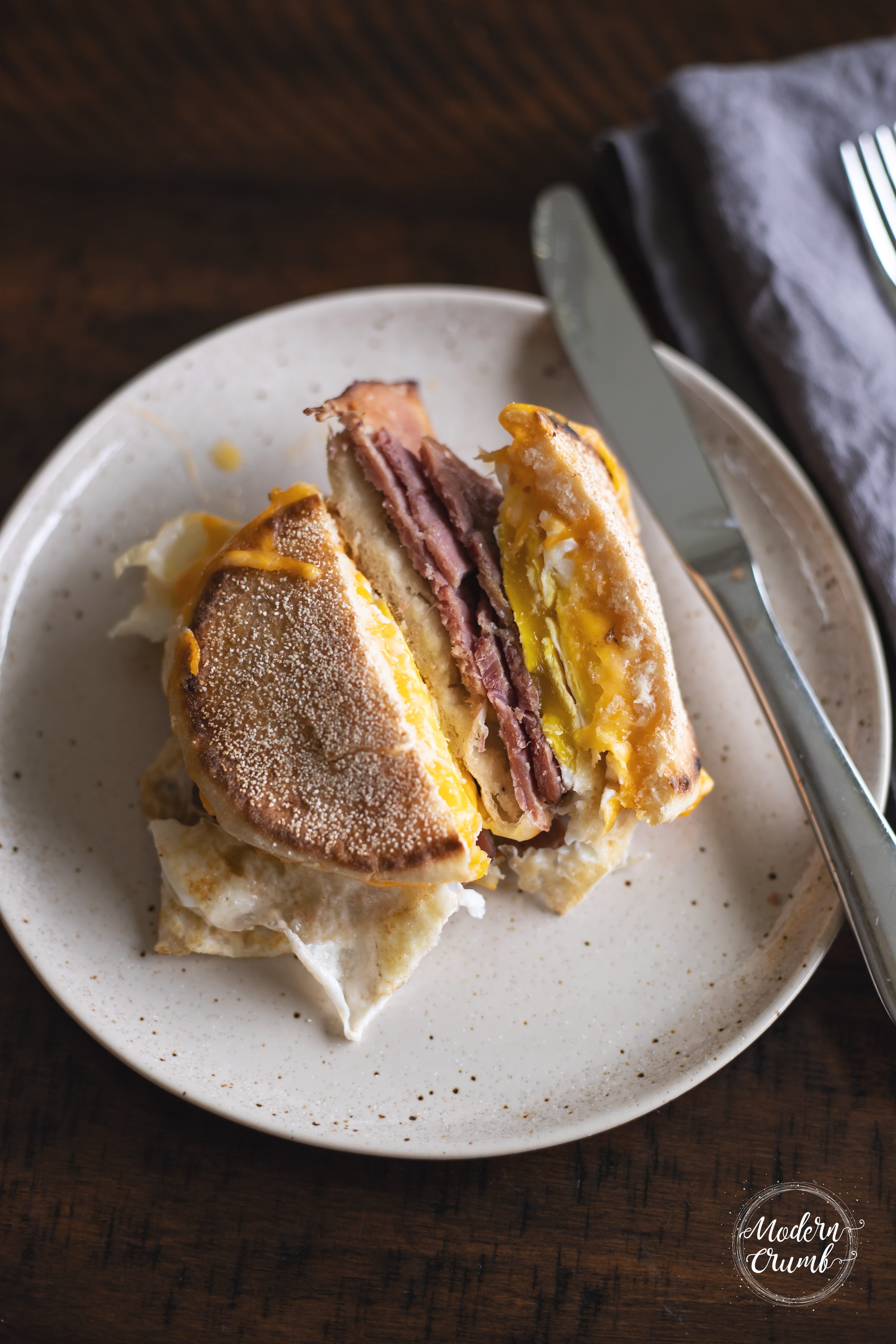 Ham, Egg & Cheese Breakfast Sandwich