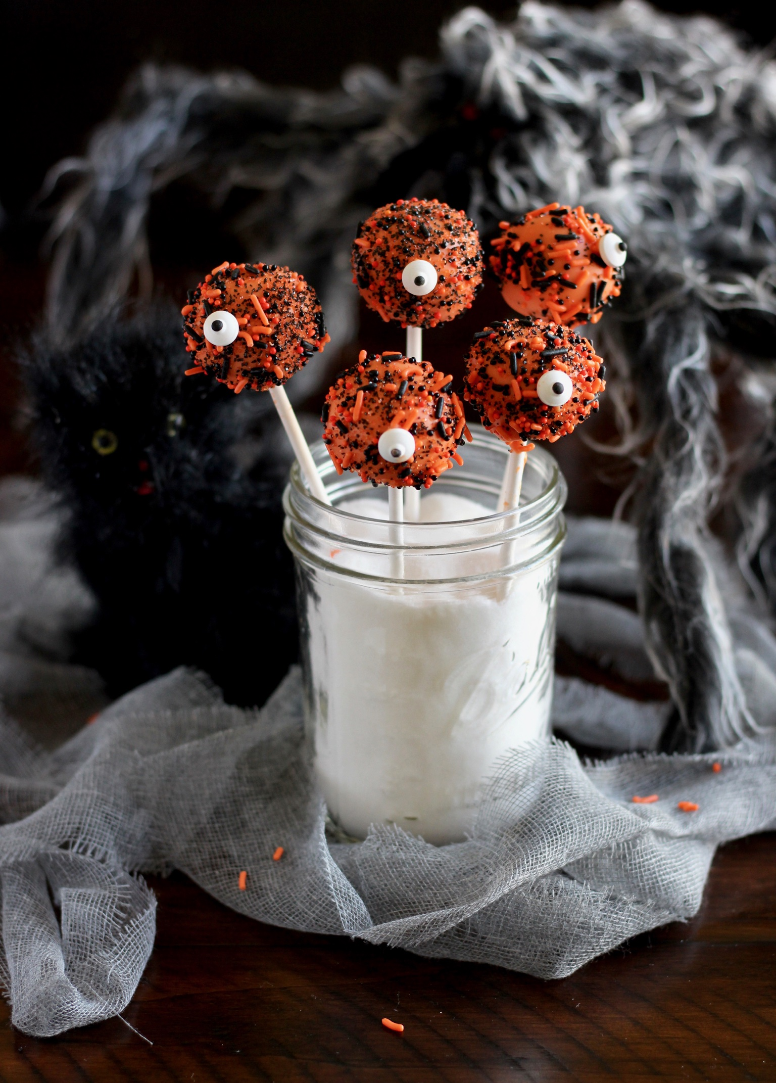 Spooky Monster Cake Pops