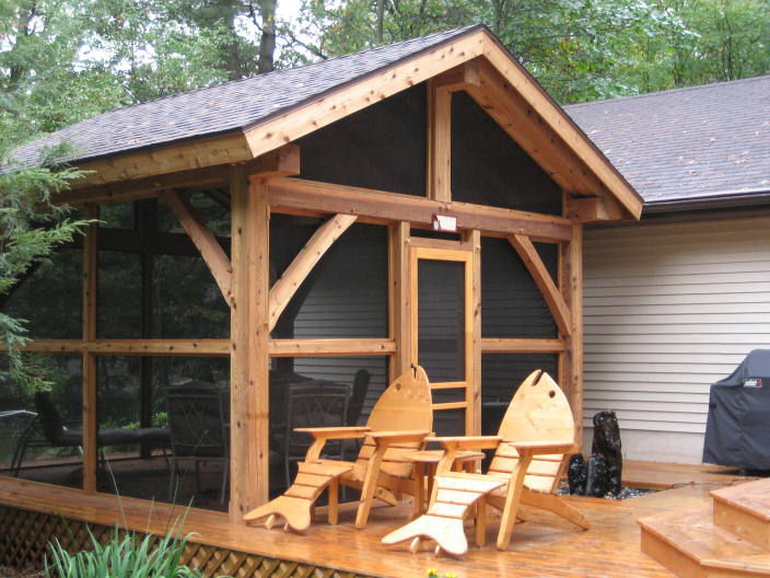 Timberframepicturescom created by for Timber frame sunroom addition