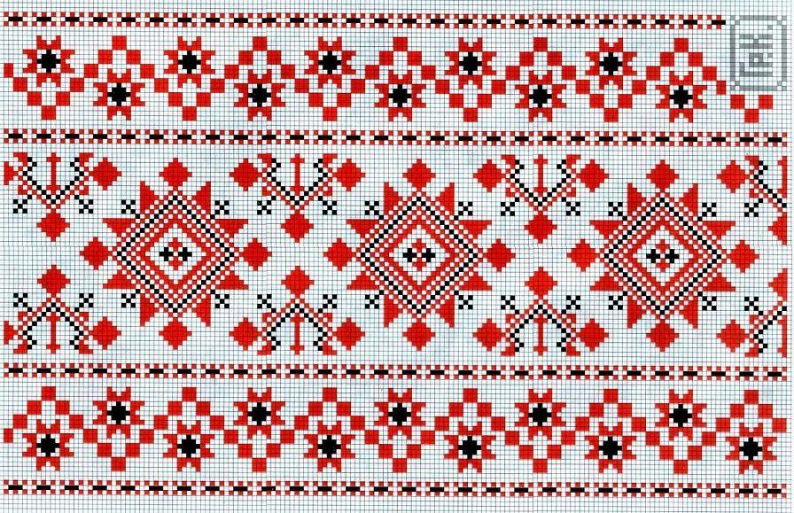 Вышивка крестиком рушники фото 39