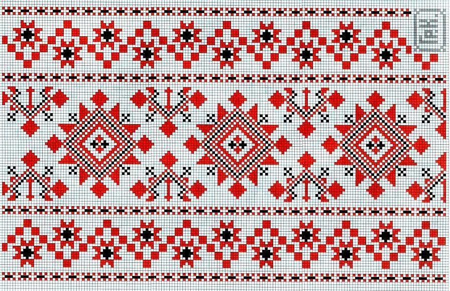 Схемы вышивок крестом на полотенце 182