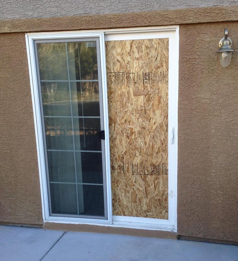 replace sliding glass door with single door 2