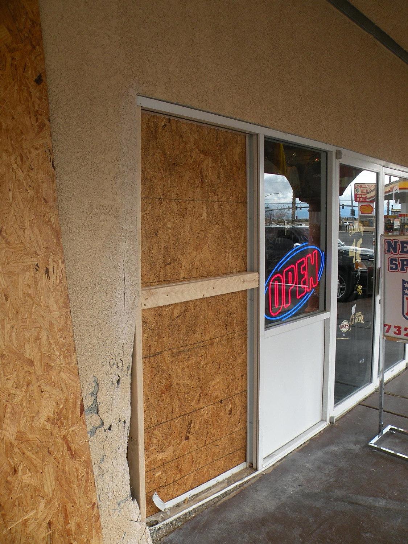 Door Board Ups : Patio door glass repair las vegas window commercial