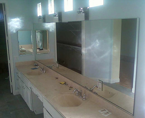 Cool Mirror Repair Replacement Decorative Mirrored Glass Bevelled Bathroom
