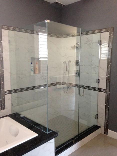 Shower Enclosure Install Frameless Glass Door Replacement Las Vegas
