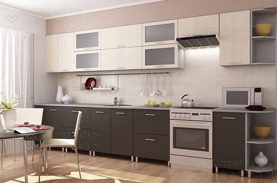 кухни цвета венге в интерьере фото