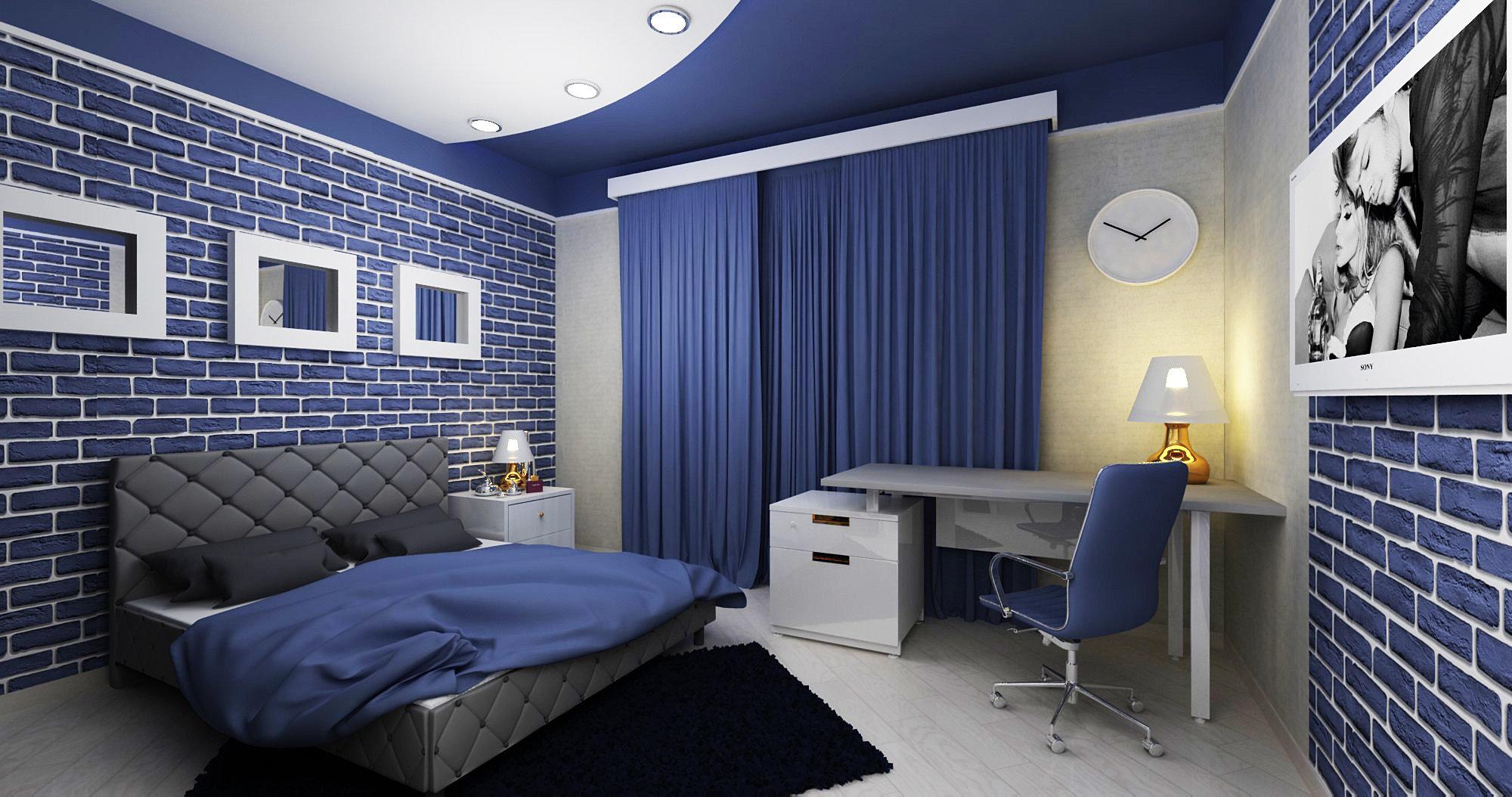 Дизайн подростковой комнаты для мальчика 12 кв.м