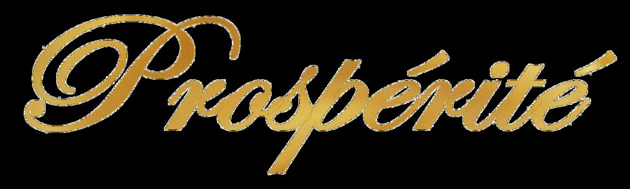 prosperite - trasparent - gold