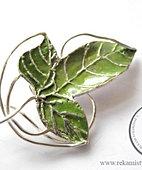 Elficka broszka-liść z Władcy Pierśc