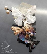 Gałązka z motylami - brosza