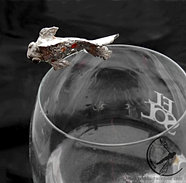 Złota rybka - broszka