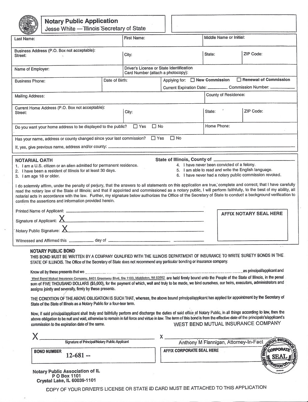Notary Bonding Packages And Application