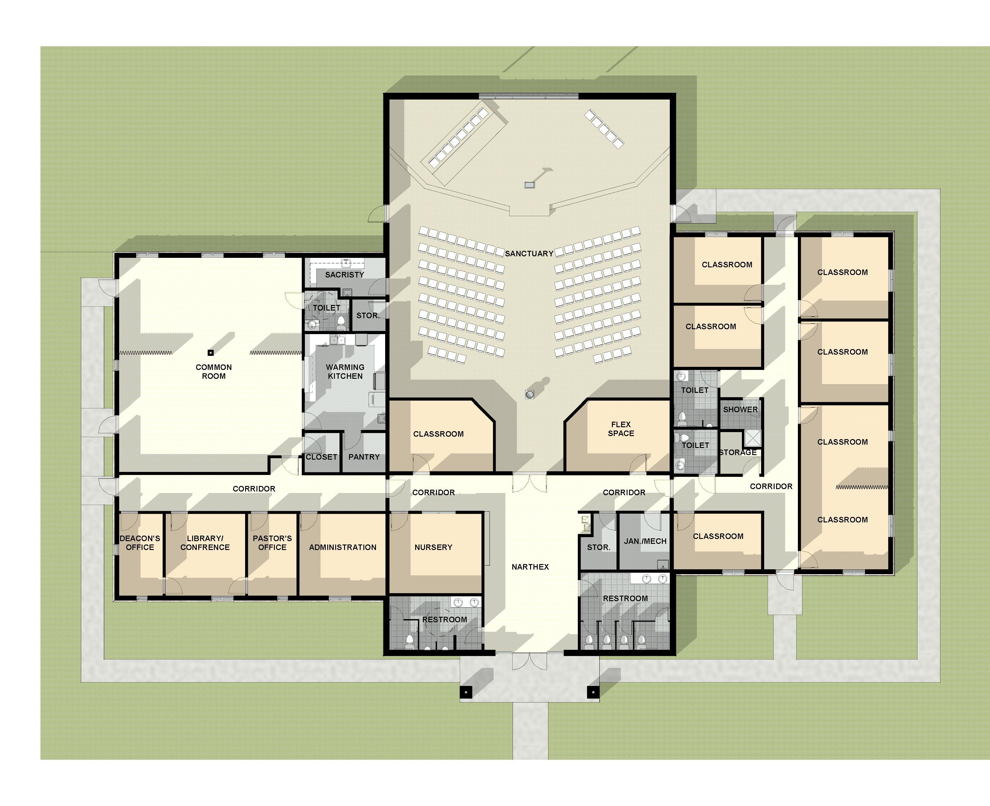 Church Plan Source Home Episcopal Church Floor Plan