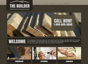Home Improvement Template - Customize this DIY theme to take your home improvement business to the next level. The no-frills design and structured layout provide the perfect backdrop to highlight your services and share customer testimonials. Craft a unique website to build your online presence.