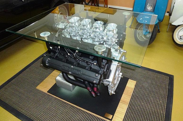 maserati engine coffee table for sale maserati forum. Black Bedroom Furniture Sets. Home Design Ideas