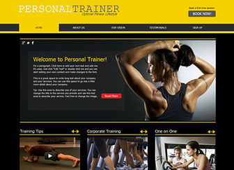 Fitness Training Website Template | WIX