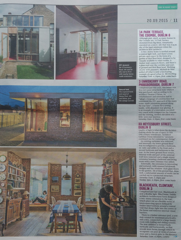 Park terrace house features in sunday times open house for Terraces opening times