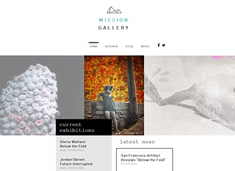 Modern art gallery website template wix for Best art websites for artists