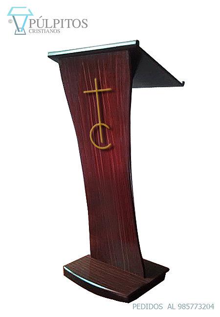 pu00falpitos, atril, podium madera caoba y acero SERIE S00214.jpg