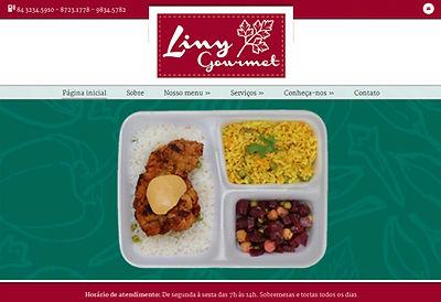 Clique para acessar o site da Marmitaria Liny Gourmet