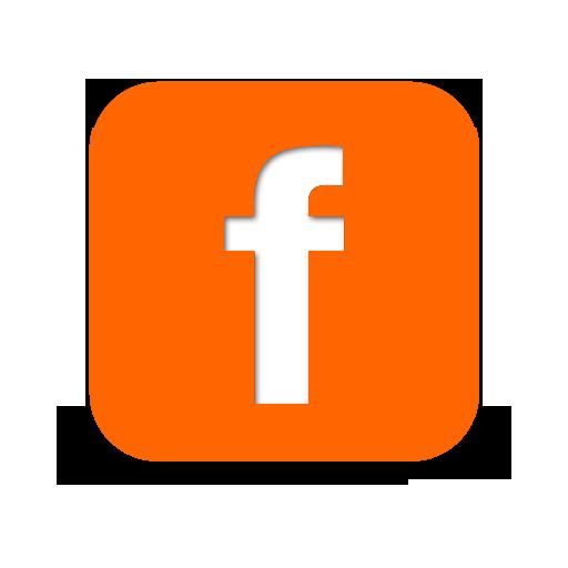 Orange Facebook Logo Orange Facebook Logo