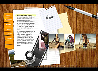 Pro Photographer Template - Artistic types will love this template design. Exhibit your work and passion with a simple and laid out look. Easy to customize, this high quality dynamic website is waiting to promote your business on the web.