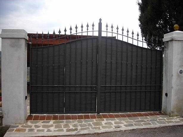 Guidierisrl lavori realizzati - Cancello porta ingresso ...