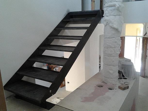 Guidierisrl lavori realizzati - Scala esterna in ferro ...