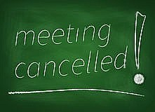 Image result for meeting cancelled