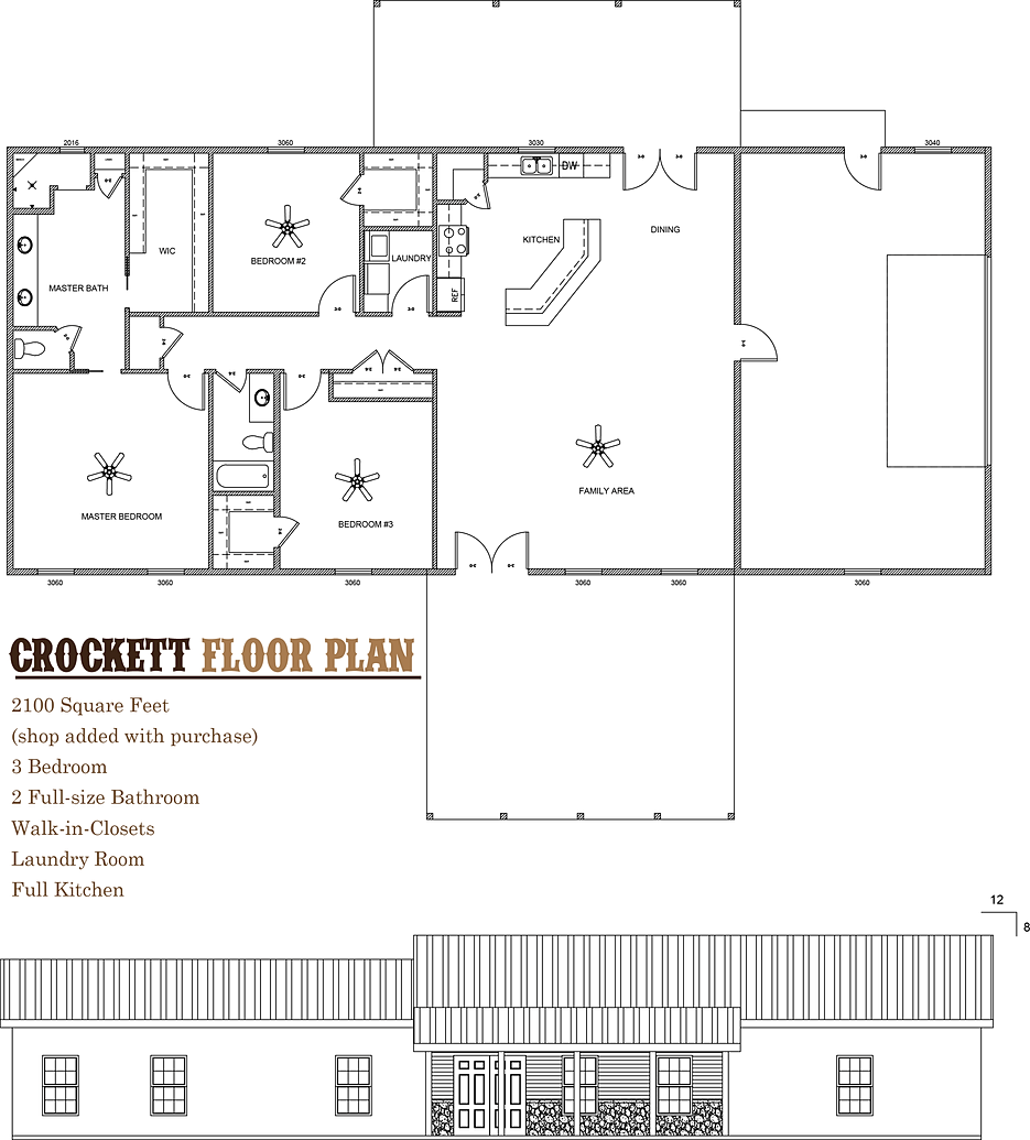Barndominium Plans For Sale Crockett Barndominium Floor Plan