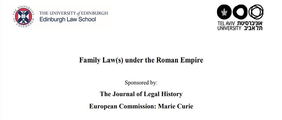 Family Law(s) under the Roman Empire -30/11 - 01/