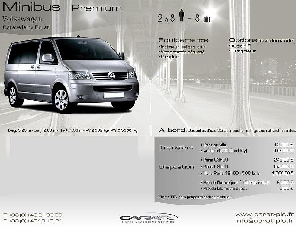 carat paris limousine service location de voiture avec chauffeur volkswagen caravelle. Black Bedroom Furniture Sets. Home Design Ideas