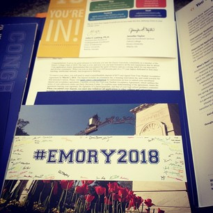 What are the undergraduate admission essay for Emory University?