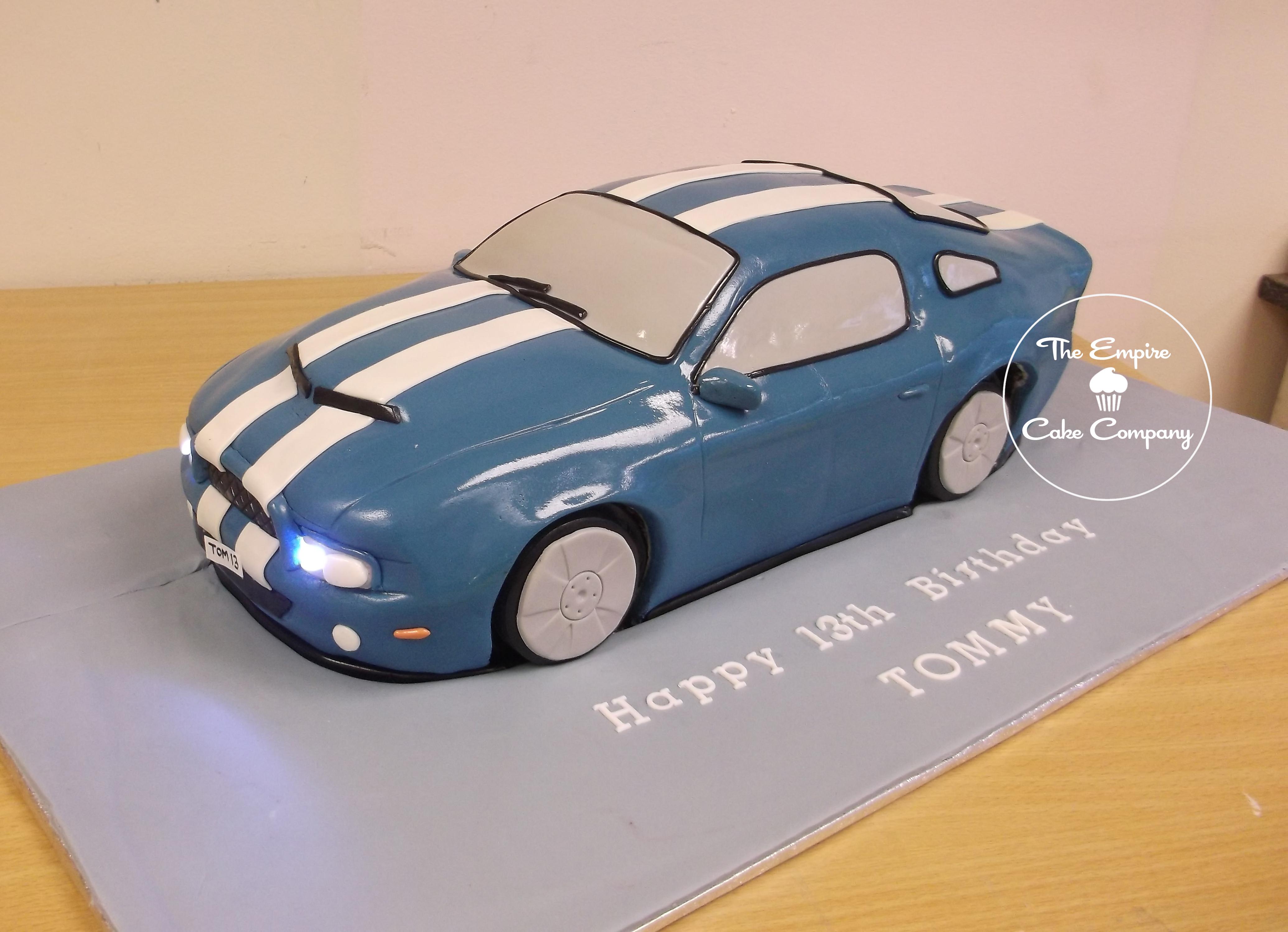 Empirecakecompany Blue Sports Car Cake