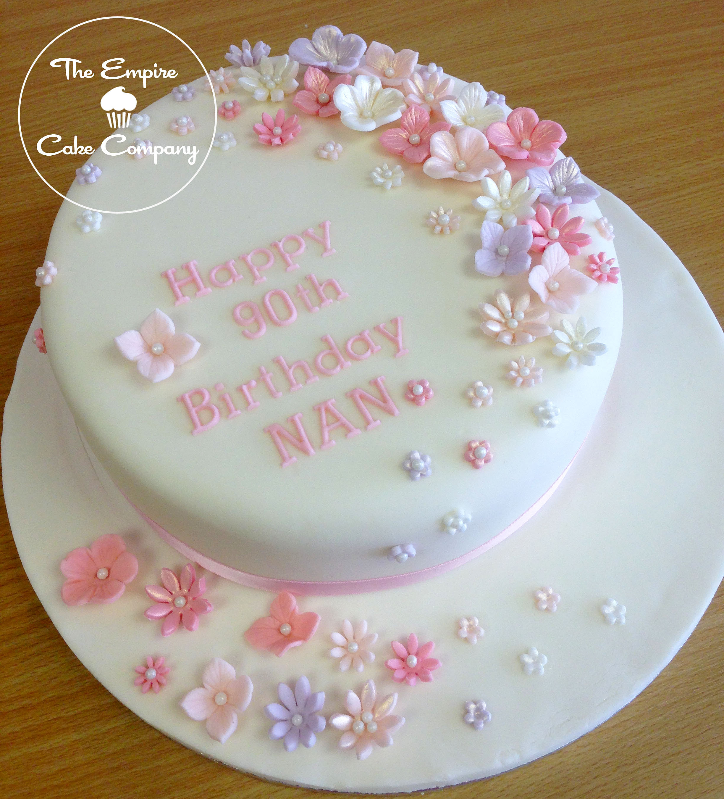 Birthday Cake Designs For A Lady : empirecakecompany Flowers 90th Birthday Cake