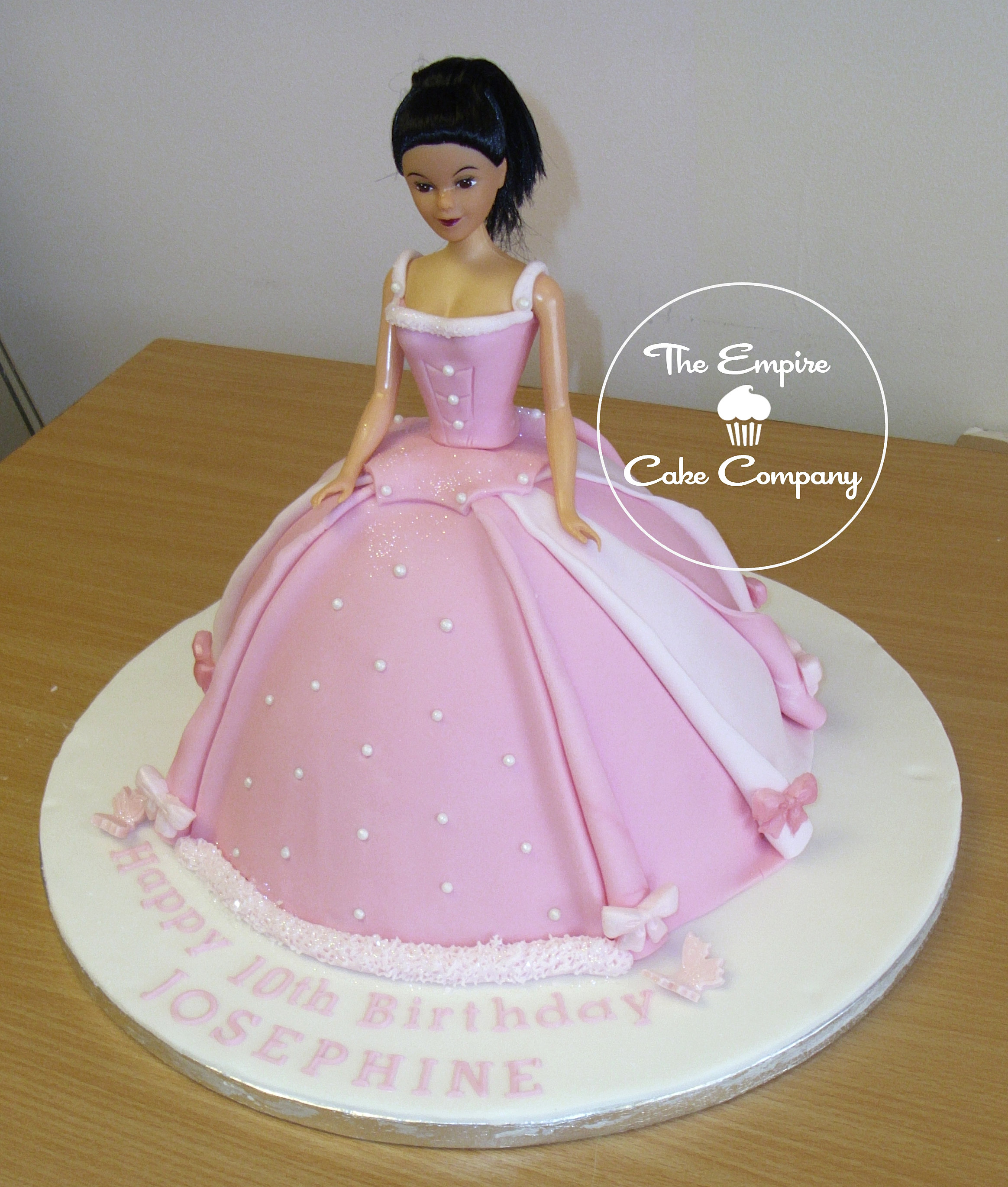 empirecakecompany Pink Barbie Cake