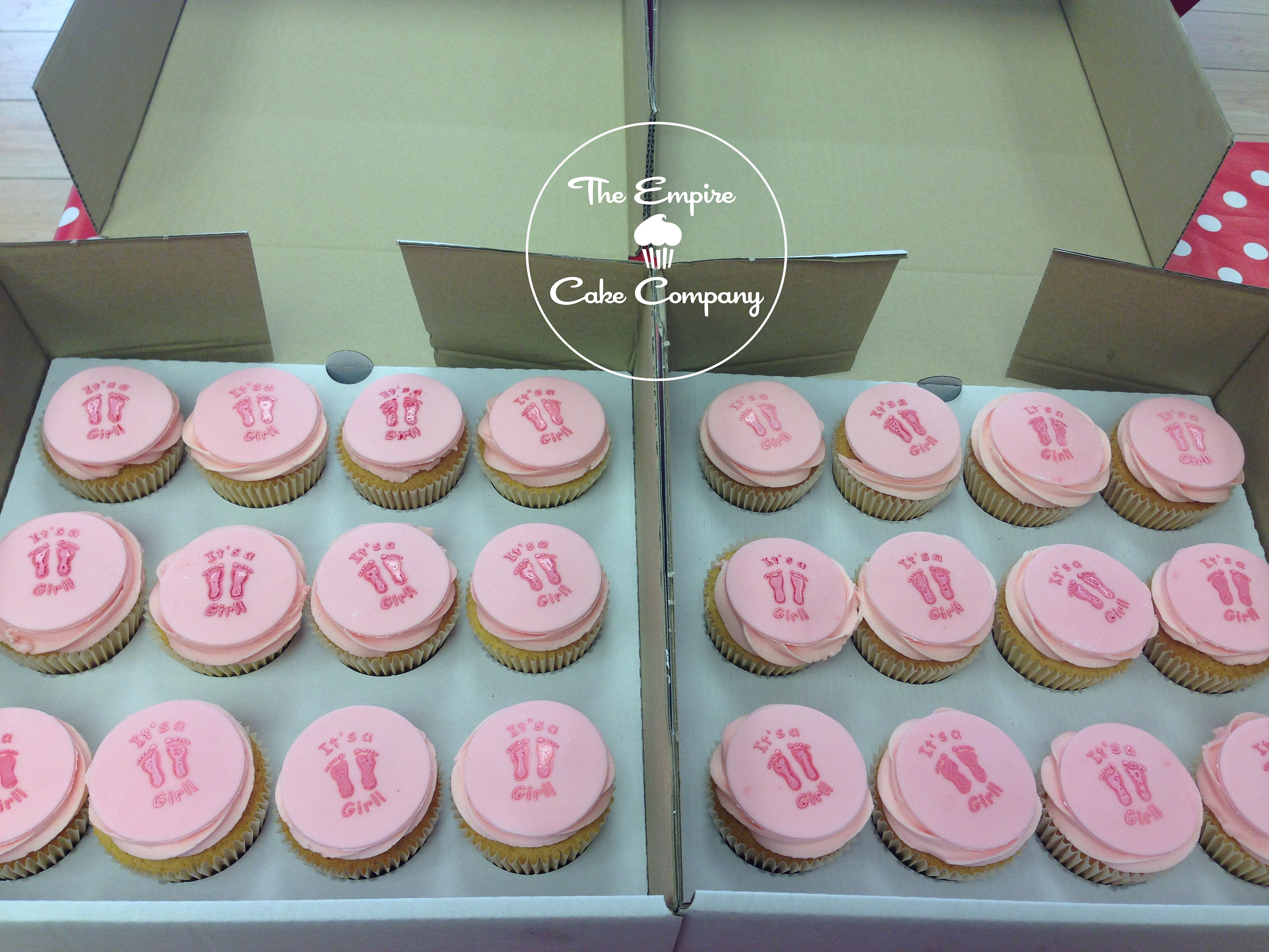 Pink baby shower cupcakes Southend-on-Sea Essex