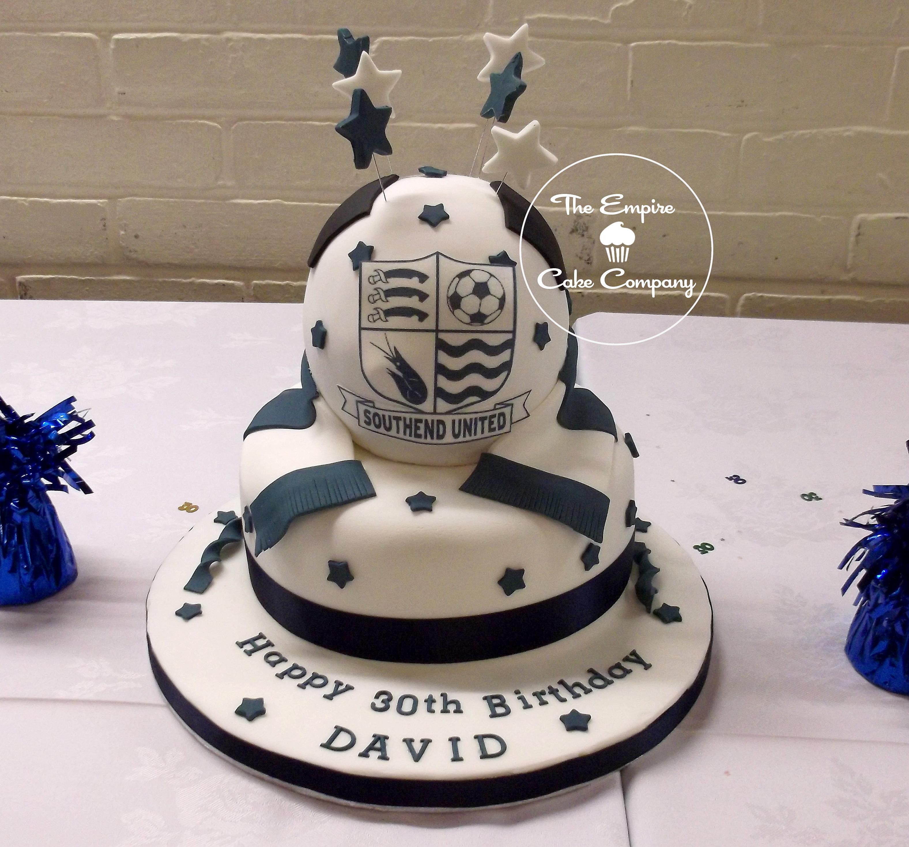 Cake Box Football Cake