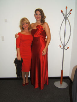 With my teacher, Gloria Fabuel
