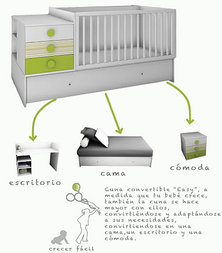 Textil beb y cunas convertibles for Dulce hogar villalba