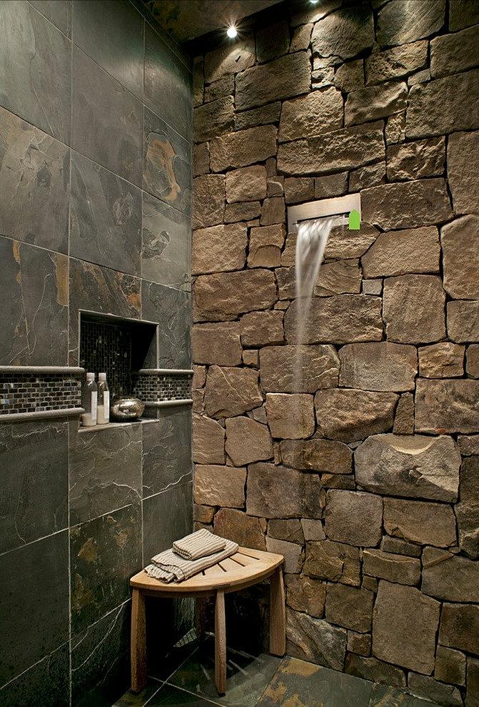 Baños Aseos Modernos:Baño – Estilo RusticoDiseño y RemodelaciónSanto Domingo, República