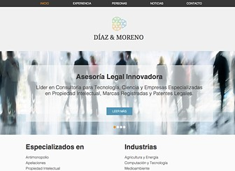 Bufete de abogados Template - Sleek and sophisticated, this template is perfect for cutting edge firms looking for a website to match. Detail your practice's specialties, staff, and press accolades. Keep clients up-to-date with photos and news through your blog.