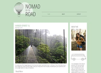 Travel Blog Template - A stylish yet simple blog template for travelers on the move. Chronicle every step of your journey with text, image, and video posts. Simple to customize and update, this template lets you share your adventures as they unfold.