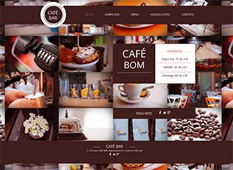 Café Template - Crie uma presença online para seu café ou restaurante com este template moderno. Adicione um cardápio elegante e personalize design e o esquema de cores para combiná-los ao seu estilo. Leve seu negócio para outro patamar hoje mesmo!