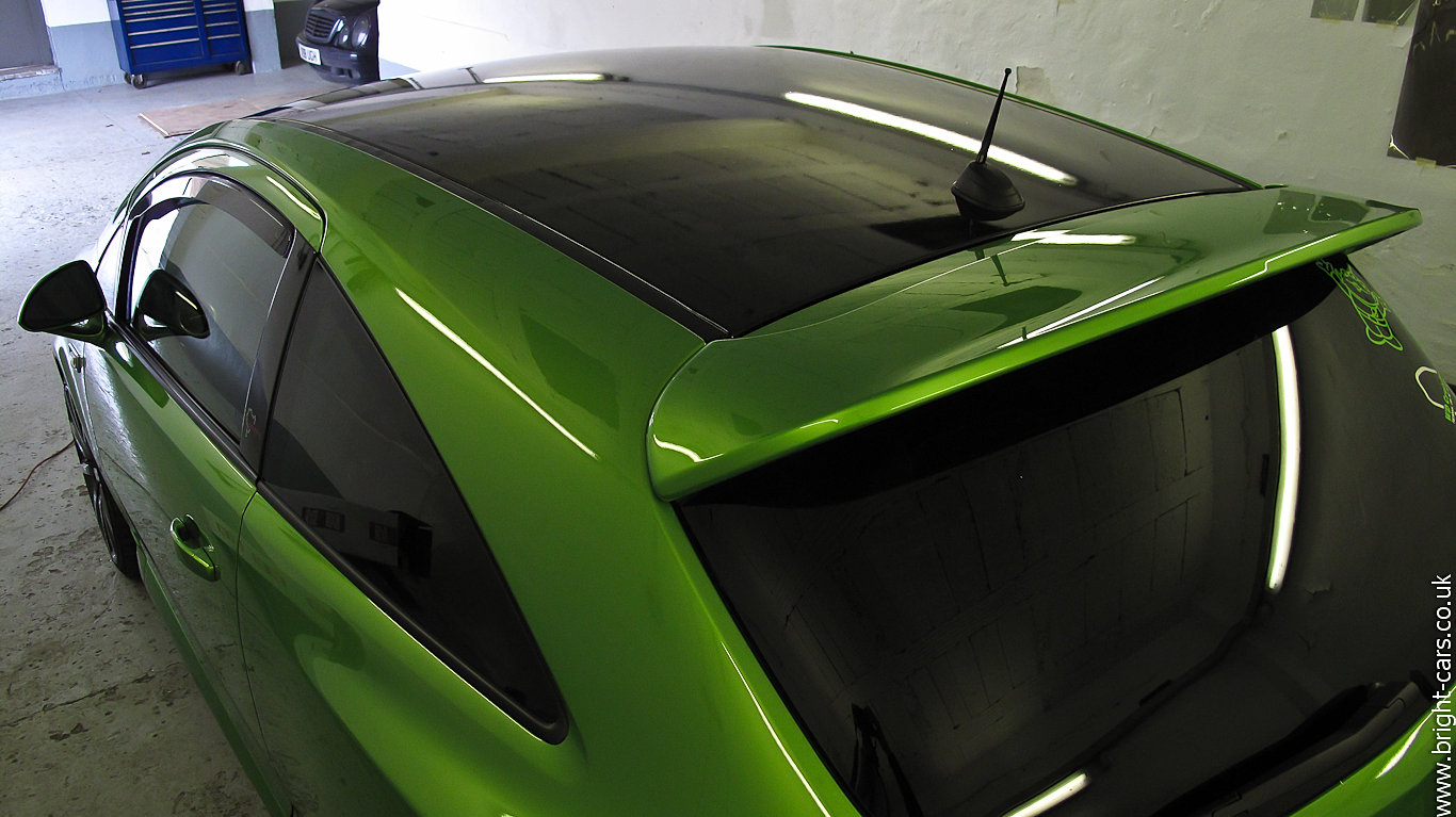 Black Car Paint >> Bright Cars - Window Tinting, Vinyl Wrapping, Paint Protection Film | Vauxhall Corsa VXR Roof Wrap