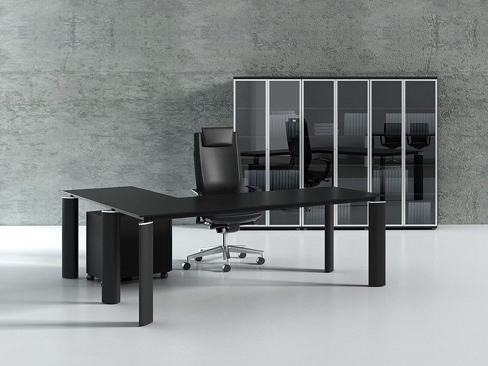 Modern Crystal Executive Desk