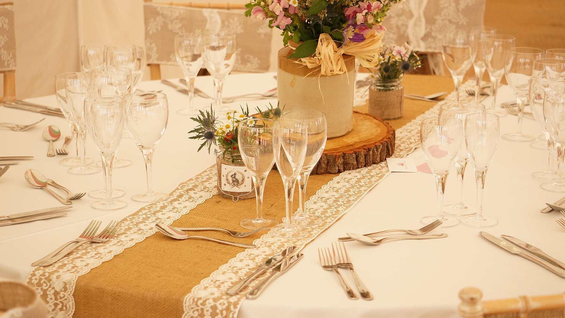House of bunting wedding stylists decoration hire for Table 3m long